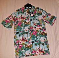 Mens LG BOCA CLASSICS Button Up S/S Hawaiian Shirt Island NWT New Tropical FR SH