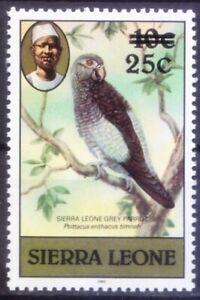 Sierra Leone 1983 MNH, Grey Parrot birds, OVP 25c