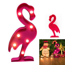 Flamingo LED Light Desktop Learning Marquee Operated Lamp Wedding Decor Gift