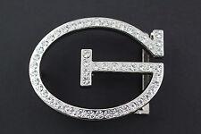 G GANGSTER Hebilla de cinturón con cristales de Metal lindo