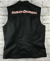 Harley Davidson Embroidered Race Vest Lined Cotton & Nylon 96158-02VW MINT Small