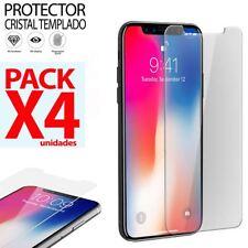 "PROTECTOR PANTALLA Cristal templado IPHONE X 5.8"" dureza 9H premium PACK"