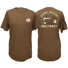 NEW John Deere Brown Vintage Tractor T-Shirt  Sizes  M L