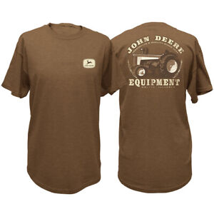 NEW John Deere Brown Vintage Tractor T-Shirt  Sizes  M L