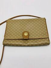 Auth CELINE Macadam mini Leather Shoulder Bag