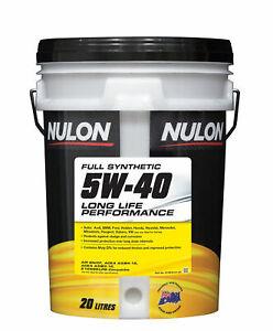 Nulon Full Synthetic Long Life Engine Oil 5W-40 20L SYN5W40-20 fits Daihatsu ...