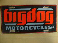 BIG DOG MOTORCYCLES AUTO LICENSE PLATE SIGNATURE LOGO K-9 CHOPPER PITBULL MUTT
