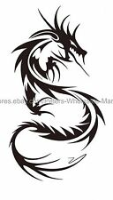 US SELLER, fire dragon temporary tattoo removable party favor