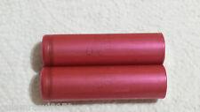 2x  Sanyo18650 2250 mAh 3.7V Li-ion Rechargeable Batteries Genuine