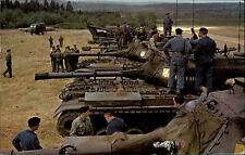 Belgien Color Postkarte ~1960/70 rrimage des chars Panzer Soldaten Tank Soldier