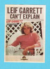 Leif Garrett Can't Explain Vintage 1980s Star Sticker from Sweden