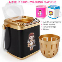 Mini Electric Washing Machine Kids Dollhouse Toy Very Useful Wash Makeup Brushes