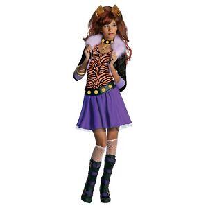 **CLEARANCE** Monster High Clawdeen Wolf Girls Fancy Dress Costume (Rubie's)