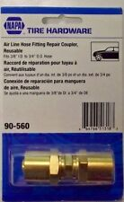"""Napa 90-560 3/8"""" Reusable Brass Hose Splicer Coupler For Air Hoses"""