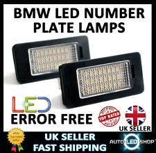 BMW 3 SERIES E90 SALOON WHITE LED NUMBER PLATE LAMP LIGHT BULB UPGRADE UNITS