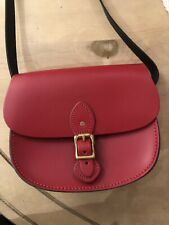 The Leather Satchel Company Medium Sporran Bag In Pillarbox Red Leather