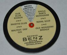 Early George Benz Liquors Celluloid Advertising Drink Wheel St. Paul Minnesota
