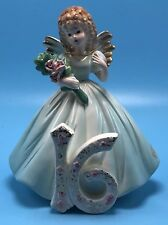 vintage Josef Originals 16th Birthday Angel Girl Figurine