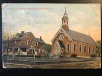 Vintage Postcard>1914>Catholic Church & Parsonage>Highlands>N.J.