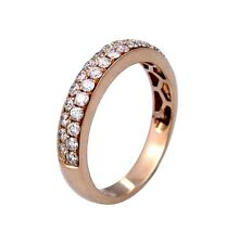 0.70ct Round Diamond Pave Setting Ladies Band Ring in 14K Rose Gold