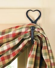 Split Hearts Iron Curtain Hook Set by Park Designs - Heart Curtain Hooks