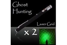 Ghost Hunting Green Laser Grid Pen x 2 + Hands-Free O-Rings + FREE Batteries