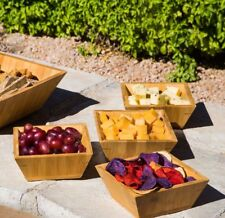 New listing New - 4 Piece Bamboo Wood Bowl Cheese, Cracker & Snack Serving Set Free Shipping