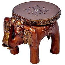 Artncraft Big Wood Wooden Elephant Stool Handicraft Gift Handmade India