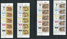 Venda Südafrika 5 x 66 - 69 postfrisch Motiv Reptilien , Frösche Eckrand MNH