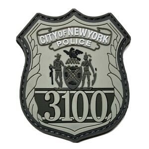 NYPD Shield PVC Rubber Patch
