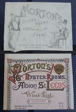 More details for norton's oyster rooms leeds advert/wine list proof antique yorkshire restaurant