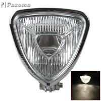Chrome Triangle Vintage Headlight Head Light Mount For Harley Chopper Bobber Hot