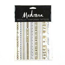 Madonna Rebel Heart Tour Metallic Temporary Tattoos - 1 Sheet