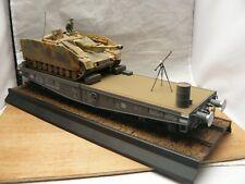 1/35 Built German 80 ton Type SSYMS Rail Flatcar & StuG IV Ausf G Tank Destroyer