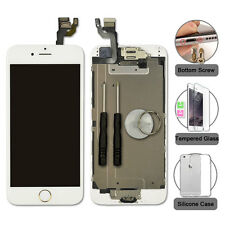 """iPhone 6 4.7"""" Replacement Digitizer LCD Touch Screen White & Gold Home Button"""