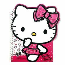 Sanrio Hello Kitty School Supply Kitty Face Die Cut Spral Notebook Note Pad (pin