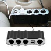 4 Way Multi Socket Car Cigarette Lighter Splitter USB Plug Adapter Charger P5