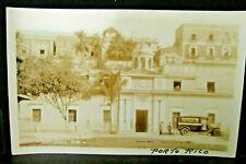 1920s PUERTO RICO REAL PHOTO PC SAN JUAN District JAIL & Private Transport WAGON