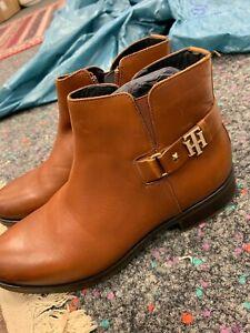 Tommy Hilfiger Damen Boots Leder Neu Gr.38 Sale