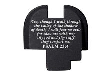 for Springfield Armory XDS Rear Slide Plate 9mm .40 .45 BLK Bible Psalm 23:4