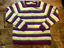 Columbia Angora Blend Sweater-Size Xl- Excellent Condition Stripe Euc