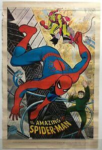 AMAZING SPIDER-MAN Poster John Romita art Marvelmania 1970 Rare Mail Order Only