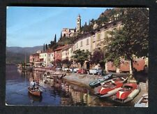 Posted 1965: View of Morcote on Lake Lugano: Gondala: 60s Cars