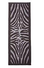 "$450 NEW FENDI Womens Silk Black Zebra Long Neck Scarf Shawl Wrap 40"" x 80"" TAG"