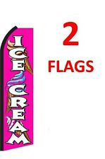 2 (two) ICE CREAM1 11.5' Standard Swooper FLAG
