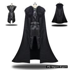 Trono Spade Vestito Carnevale Uomo simile Jon Snow Cosplay Costume - GTHJS01