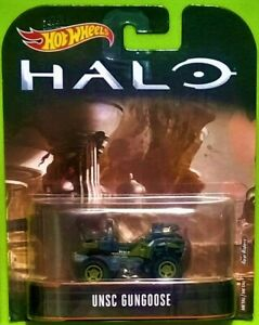 2017 HOT WHEELS ENTERTAINMENT - HALO - UNSC GUNGOOSE - NEW ON CARD