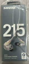 SHURE SE215 PROFESSIONAL SOUND ISOLATING STEREO EARPHONE SE215-CL CLEAR SEALED