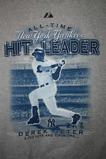 Majestic Derek Jeter NY Yankees All Time Hit Leader T-Shirt New W/Tags XL (H18)