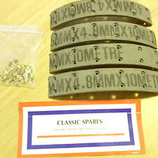 MG TD ANG 1950  TO 1953 SET OF 4 FRONT BRAKE LININGS WITH RIVETS  WE068AF